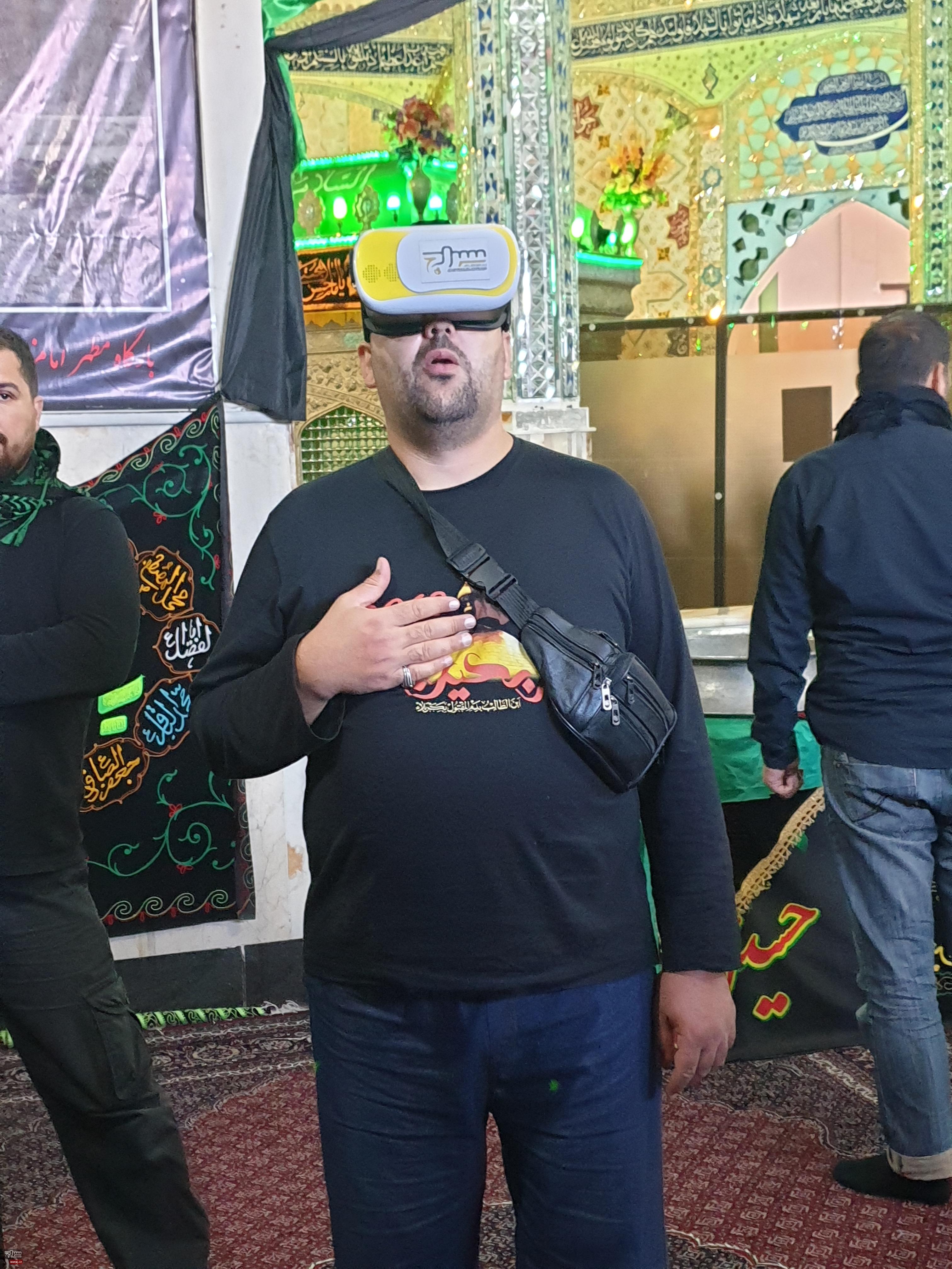 برپایی موکب خدمات دیجیتال در امامزاده سید صدرالدین اردبیل